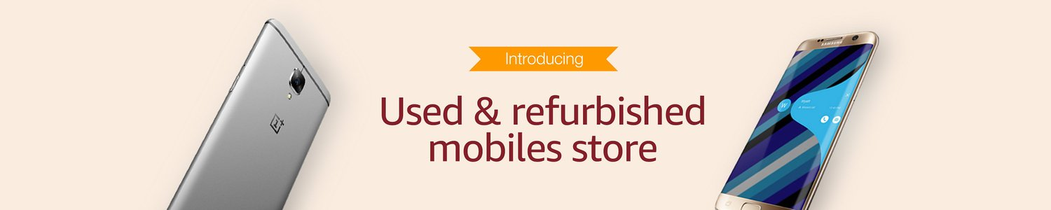 Amazon New Service: Refurbished & Secondhand Mobile Phones